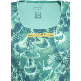 GORE RUNNING WEAR AIR PRINT Tri Top Singlet Dames, turquoise